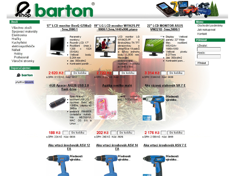 eshopbarton.cz screenshot
